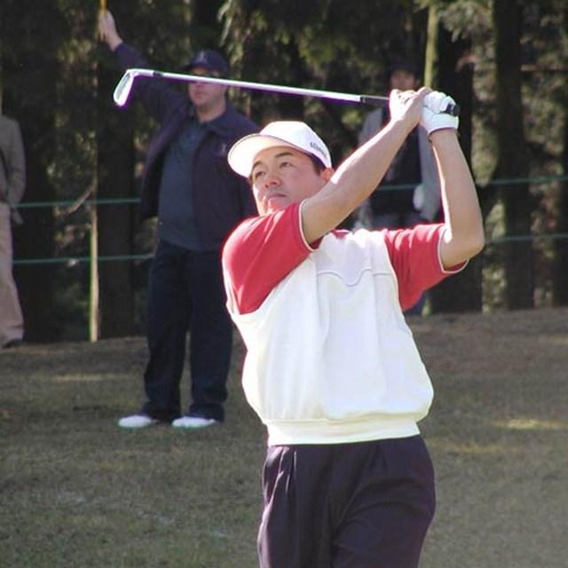 堅実なゴルフを展開し、後続を振り切った室田淳