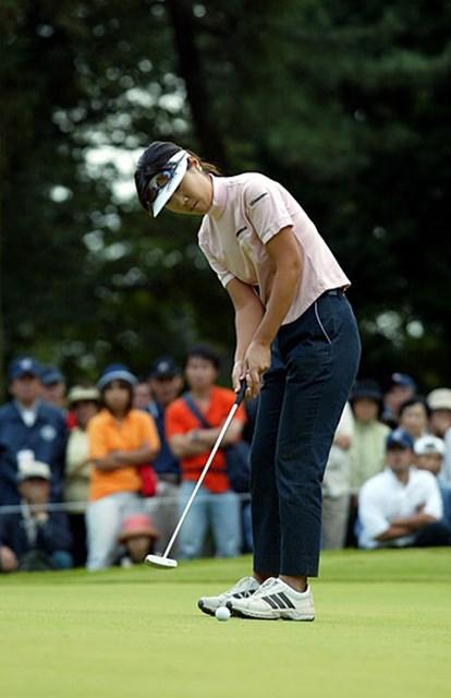 2003年 日本女子オープンゴルフ選手権競技 最終日 李知姫 ウィニングパット!のはずが・・・4パットしてしまった李知姫