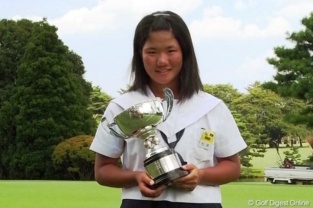 今後は攻めるだけのゴルフではなく戦略を練ってゴルフをしたいと話す松原由美