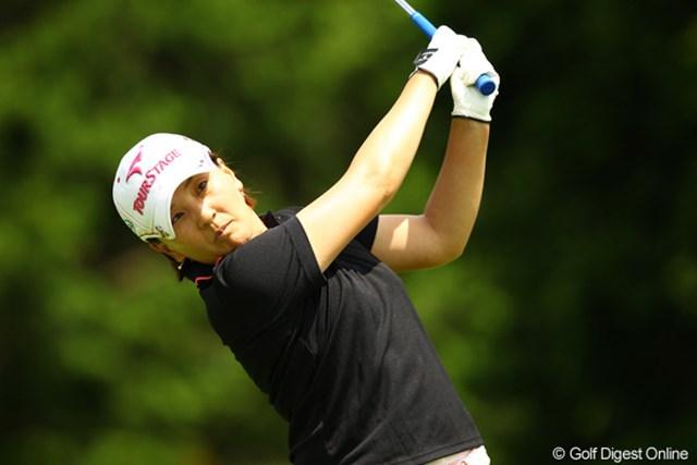 2012年 CAT Ladies 初日 茂木宏美 ノーボギーはさすがです。首位と1打差の4位タイスタート。