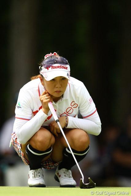 2012年 CAT Ladies 初日 佐伯三貴 前半は絶好調で、一時は首位に。バックナインのゴルフに何があったんでしょう・・・。