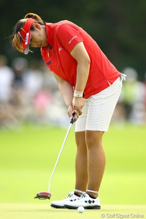 「いい時のゴルフに近付いてきた」と好感触を得た福嶋晃子が首位タイ発進 2012年 CAT Ladies 初日 福嶋晃子
