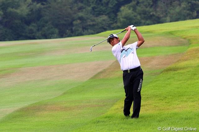 2012年 関西オープンゴルフ選手権競技 3日目 武藤俊憲 競技再開後の上がり4ホールで2バーディを奪取。自身初の完全優勝に王手をかけた武藤俊憲
