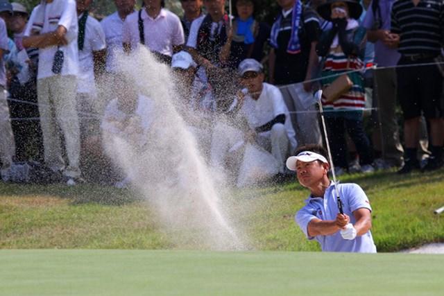 「全米プロ」帰りの藤田寛之は疲れの色も見せず、上位キープを続けている