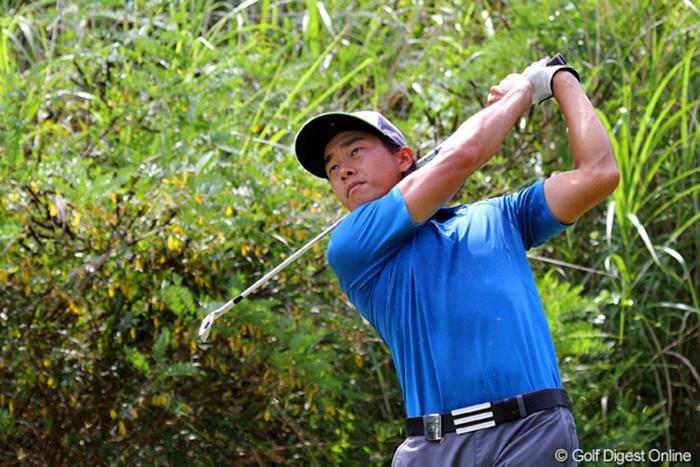 韓国人アマチュアの田宰翰(ジョン・ジェハン)。C.ビジェガスみたいな屈強な肉体です 2012年 関西オープンゴルフ選手権競技 3日目 田宰翰(ジョン・ジェハン)