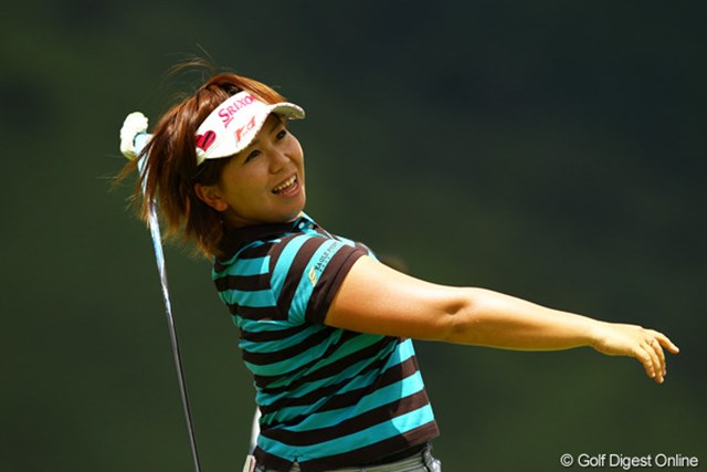 2012年 CAT Ladies 最終日 吉田弓美子 残念ながら2週連続優勝ならず。今日はショットがイマイチだったかなぁ