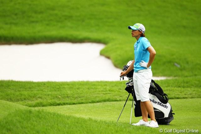 昨日のゴルフはどこへやら・・・。オーバーパーのラウンドで7位タイフィニッシュです。
