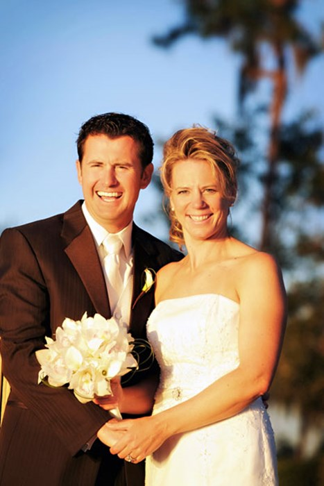 自身の結婚式でゴルフでは見られないリラックスした笑顔を披露したアニカ・ソレンスタム(Handout/GettyImages) アニカ・ソレンスタム