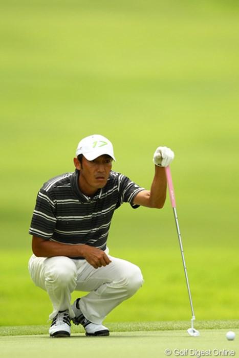 今年は熱中症対策バッチリだそうです。ノーボギーの素晴らしいゴルフでした 2012年 VanaH杯KBCオーガスタゴルフトーナメント 初日 河井博大
