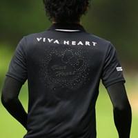 メンズでもハローキティが付いてるウェアなんてあるんですねぇ 2012年 VanaH杯KBCオーガスタゴルフトーナメント 初日 諸藤将次