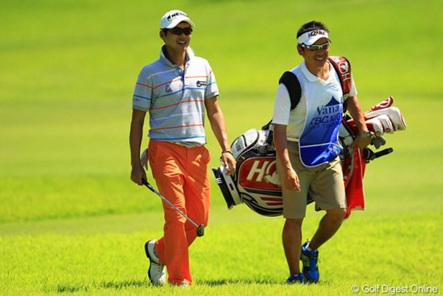 2012年 VanaH杯KBCオーガスタゴルフトーナメント 3日目 金度勲 裏街道スタートからコンニチハ④ ギリギリでの予選通過から大爆発して9位タイに。笑顔がこぼれますね