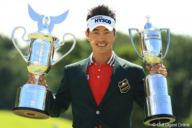 2012年 VanaH杯KBCオーガスタゴルフトーナメント  最終日 キム・ヒョンソン 通算18アンダーで日本ツアー初優勝を果たした韓国のキム・ヒョンソン