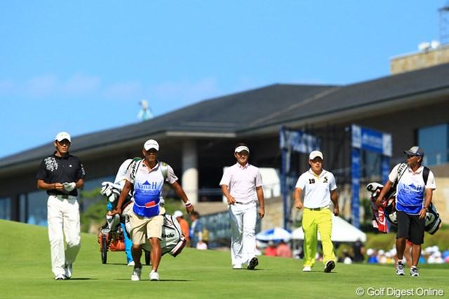 2012年 VanaH杯KBCオーガスタゴルフトーナメント 最終日 第10組 同組でラウンドした、河井・片岡・藤本の三人。何があったのか、三人揃ってスコアを崩すなんて・・・。