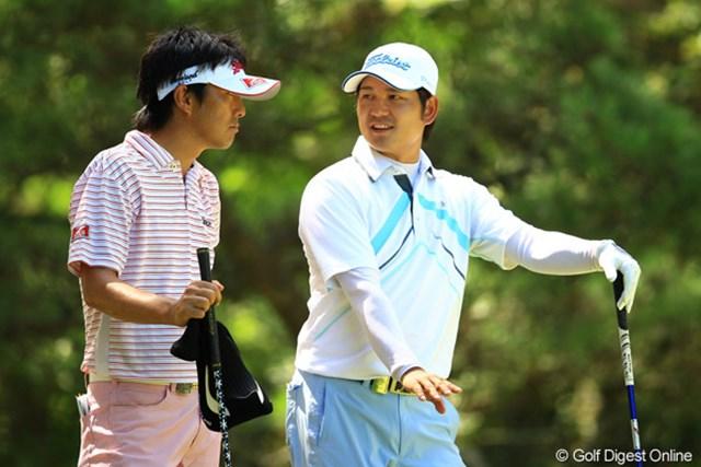 2012年 VanaH杯KBCオーガスタゴルフトーナメント 最終日 山下和宏 貞方章男 大阪府出身の山下と奈良県出身の貞方。仲良く関西弁で楽しそうにラウンドしてましたね。
