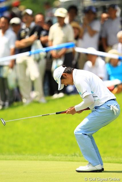 2012年 VanaH杯KBCオーガスタゴルフトーナメント 最終日 貞方章男 9番イーグルパットは惜しくも入らず。
