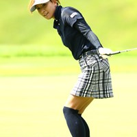 今季初の好スタートをみせた辻村明須香だが、引退のタイミングを考えているという 2012年 ゴルフ5レディスプロゴルフトーナメント 初日 辻村明須香