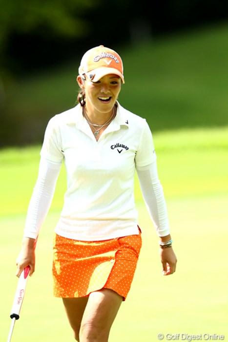 いつも元気だし明るいよね、3アンダー14位タイ 2012年 ゴルフ5レディスプロゴルフトーナメント 初日 甲田良美