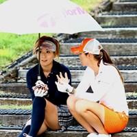 女子会? 2012年 ゴルフ5レディスプロゴルフトーナメント 初日 辻村明須香&甲田良美