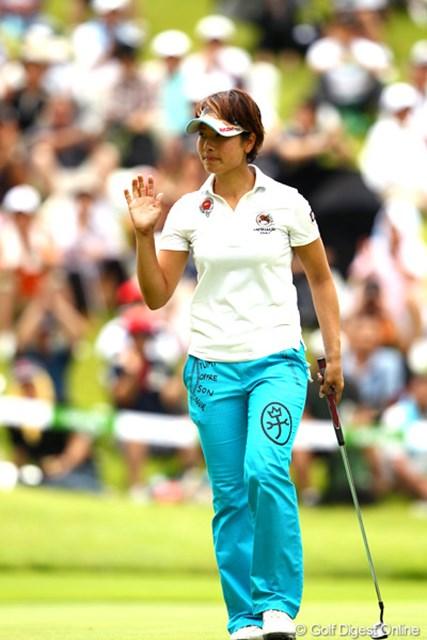2012年 ゴルフ5レディスプロゴルフトーナメント 最終日 森田理香子 2週続けて最終日に「65」。4週続けてトップ10入りと好調キープの森田理香子