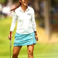 笑顔でフィニッシュだ。8アンダー17位タイ 2012年 ゴルフ5レディスプロゴルフトーナメント 最終日 甲田良美