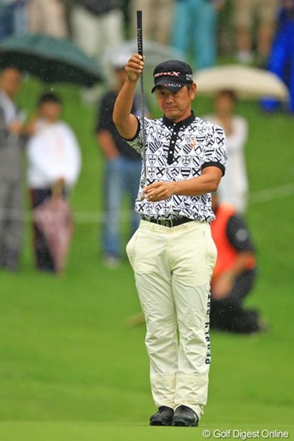2012年 フジサンケイクラシック 最終日 藤田寛之 あと一歩の追い上げが求められた藤田寛之だったが3位タイでフィニッシュ。