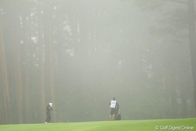 雨が止めば霧が・・・でも試合は止まる事無く、無事に終わってよかったです。