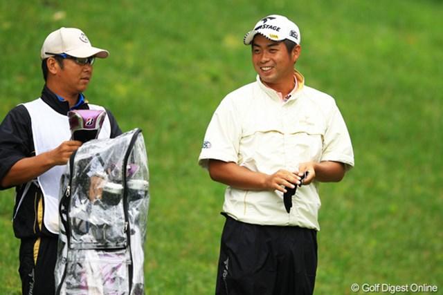 ボギーの後でも終始笑顔だった勇太。勝負をしてるというよりも、ゴルフを楽しんでるって感じでしたね。