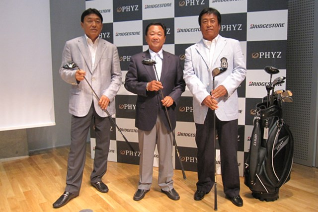 ギアニュース 大人のゴルファーへ!2代目ファイズ発表 NO.1 シニアツアーで活躍する羽川豊、倉本昌弘、湯原信光が駆けつけた