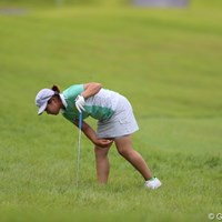 今週のラフはちょっと目を離すとボール見つけるの大変なんです。 2012年 日本女子プロゴルフ選手権大会コニカミノルタ杯 初日 イ・ヘス