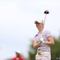 出てそうで出てないヘソ。 2012年 日本女子プロゴルフ選手権大会コニカミノルタ杯 初日 タミー・ダーディン