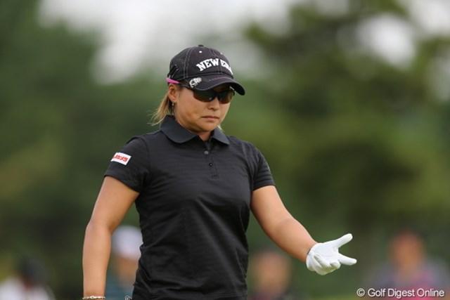 2012年 日本女子プロゴルフ選手権大会コニカミノルタ杯 初日 馬場ゆかり あれ?フレミングの法則ってどうだったっけ?