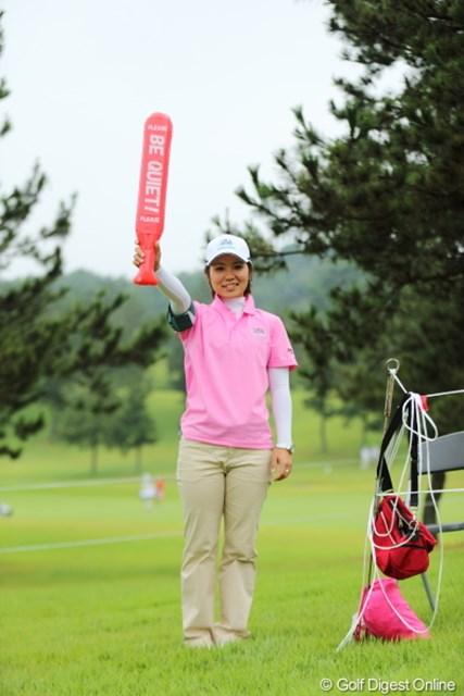 2012年 日本女子プロゴルフ選手権大会コニカミノルタ杯 初日 比嘉真美子 なかなかサマになってるよ。