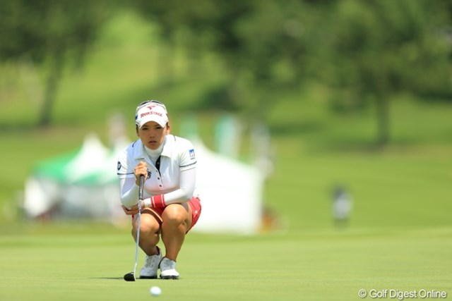 2012年 日本女子プロゴルフ選手権大会コニカミノルタ杯 2日目 有村智恵 4連続バーディ発進から流れを作り、暫定ながら単独首位に浮上した有村智恵