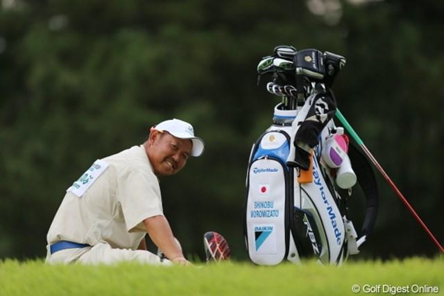 2012年 日本女子プロゴルフ選手権大会コニカミノルタ杯 2日目  グッチさん ハーフ2時間以内で回れっていうから走るの大変なんだよねー。