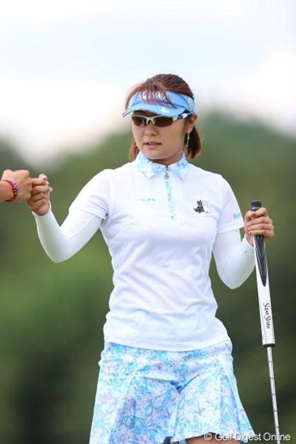 2012年 日本女子プロゴルフ選手権大会コニカミノルタ杯 2日目 藤田幸希 歴代覇者の藤田幸希が、苦しみながらも暫定6位と上位で予選ラウンドを終了