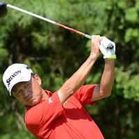 首位と3打差の7位タイからスタートした植田浩史、この日は「68」をマークして首位タイに浮上した 2012年 コマツオープン 2日目 植田博史