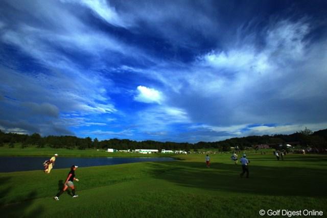2012年 日本女子プロゴルフ選手権大会コニカミノルタ杯 3日目 18番 最終組、最終ホール。