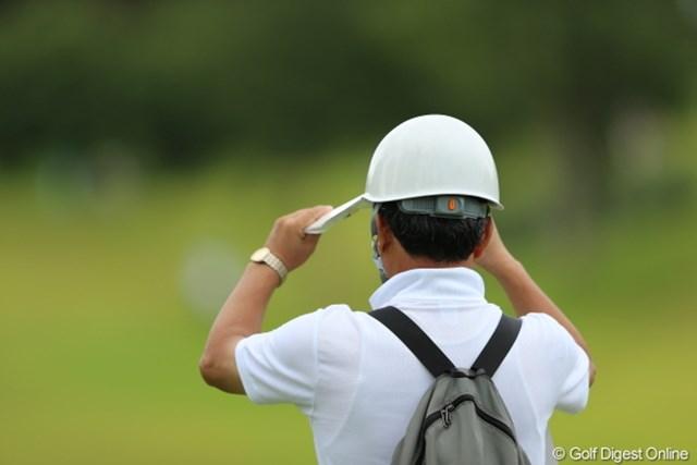 2012年 日本女子プロゴルフ選手権大会コニカミノルタ杯 3日目 ボランティア よぉ?し、ボールが飛んできたらヘディングしてやるぞー。