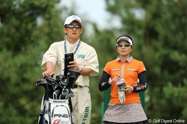 2012年 日本女子プロゴルフ選手権大会コニカミノルタ杯 3日目 上原彩子 兄妹じゃないですよ、子弟関係です。