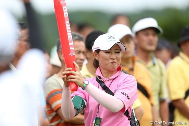 2012年 日本女子プロゴルフ選手権大会コニカミノルタ杯 3日目 ルーキー グフフ、来年は私も、、グフフ。