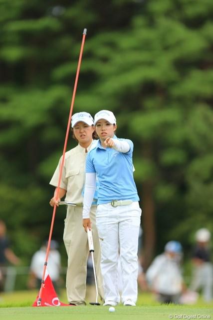 2012年 日本女子プロゴルフ選手権大会コニカミノルタ杯 3日目 大江香織 あのね、あのカメラマンがね、いじめるの。