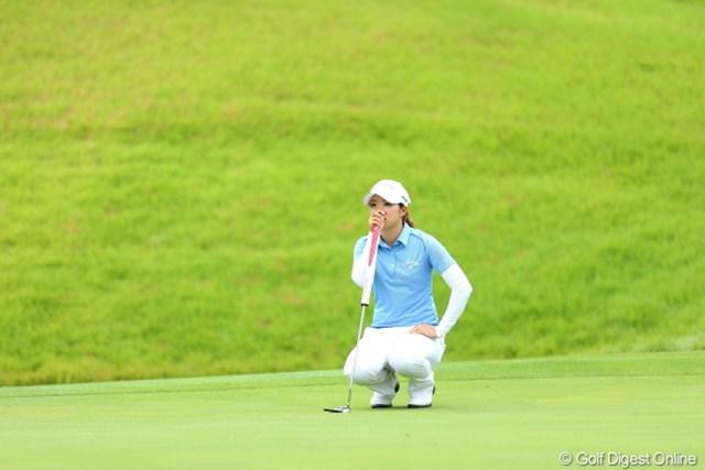 2012年 日本女子プロゴルフ選手権大会コニカミノルタ杯 3日目 大江香織 なんか二人のプレイに圧倒されちゃうなぁ。