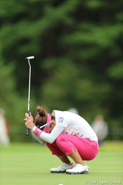 2012年 日本女子プロゴルフ選手権大会コニカミノルタ杯 3日目 有村智恵 あぁぁぁぁ、なんてことをしてしまったんだぁ。。。