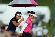 2012年 日本女子プロゴルフ選手権大会コニカミノルタ杯 最終日 有村智恵 吉田弓美子
