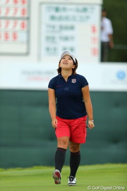 2012年 日本女子プロゴルフ選手権大会コニカミノルタ杯 最終日 吉田弓美子 報道陣の取材開始直後に号泣。メジャー初タイトルを惜しくも逃した吉田弓美子