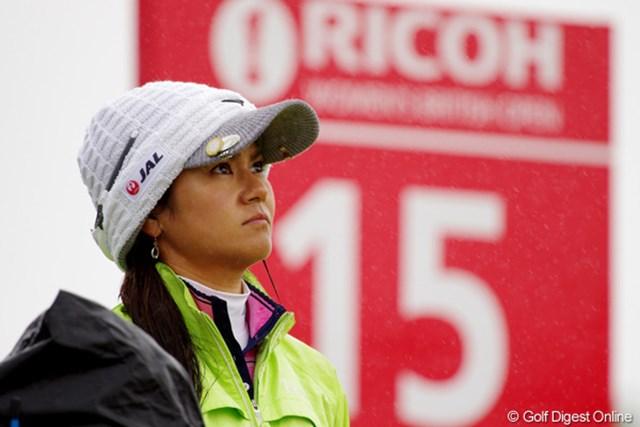 2012年 全英リコー女子オープン 事前情報 宮里藍 最後の練習ラウンドで荒天を経験。あらゆるコース状況を吸収し、初日のラウンドに臨む