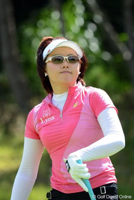 通算8アンダー2位タイに浮上したナ・ダエ(写真は日本女子プロゴルフ選手権大会コニカミノルタ杯時)