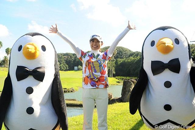 ツアー優勝で今後のスケジュールが大幅に変わると笑顔の永井奈都