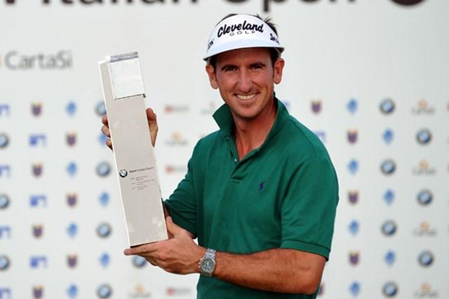 落胆を乗り越えて、今季初勝利を手にしたG.フェルナンデスカスタノ (Stuart Franklin /Getty Images)