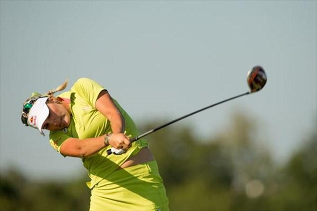 大会2連覇へ向け、好スタートを切ったレクシー・トンプソン(Darren Carroll/Getty Images)